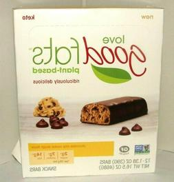 12 BARS Love Good Fats plant-based Snack Chocolate Chip Cook