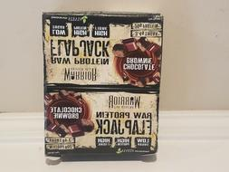12 count Warrior Raw Protein Flap Jack Chocolate Brownie Pro