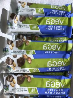 24 Vega Protein Snack Bar Chocolate Peanut butter -Plant Bas