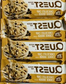 4 Bars Quest Chocolate Chip Cookie Dough,21 Grams Protein, 1