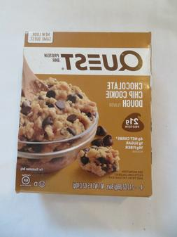 4 quest protein bar chocolate chip cookie
