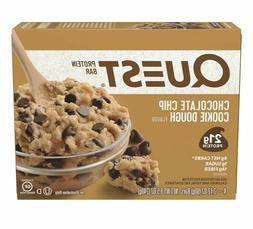 Box With 4 Quest Protein Bar 8 Oz Chocolate Chip Cookie Doug