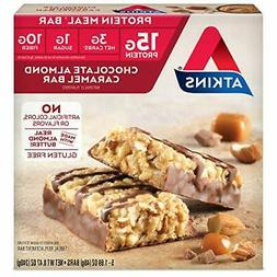 Atkins Chocolate Almond Caramel Protein Meal Bar. With Real