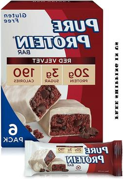 Pure Protein - High Protein Bar Red Velvet - 6 Bars