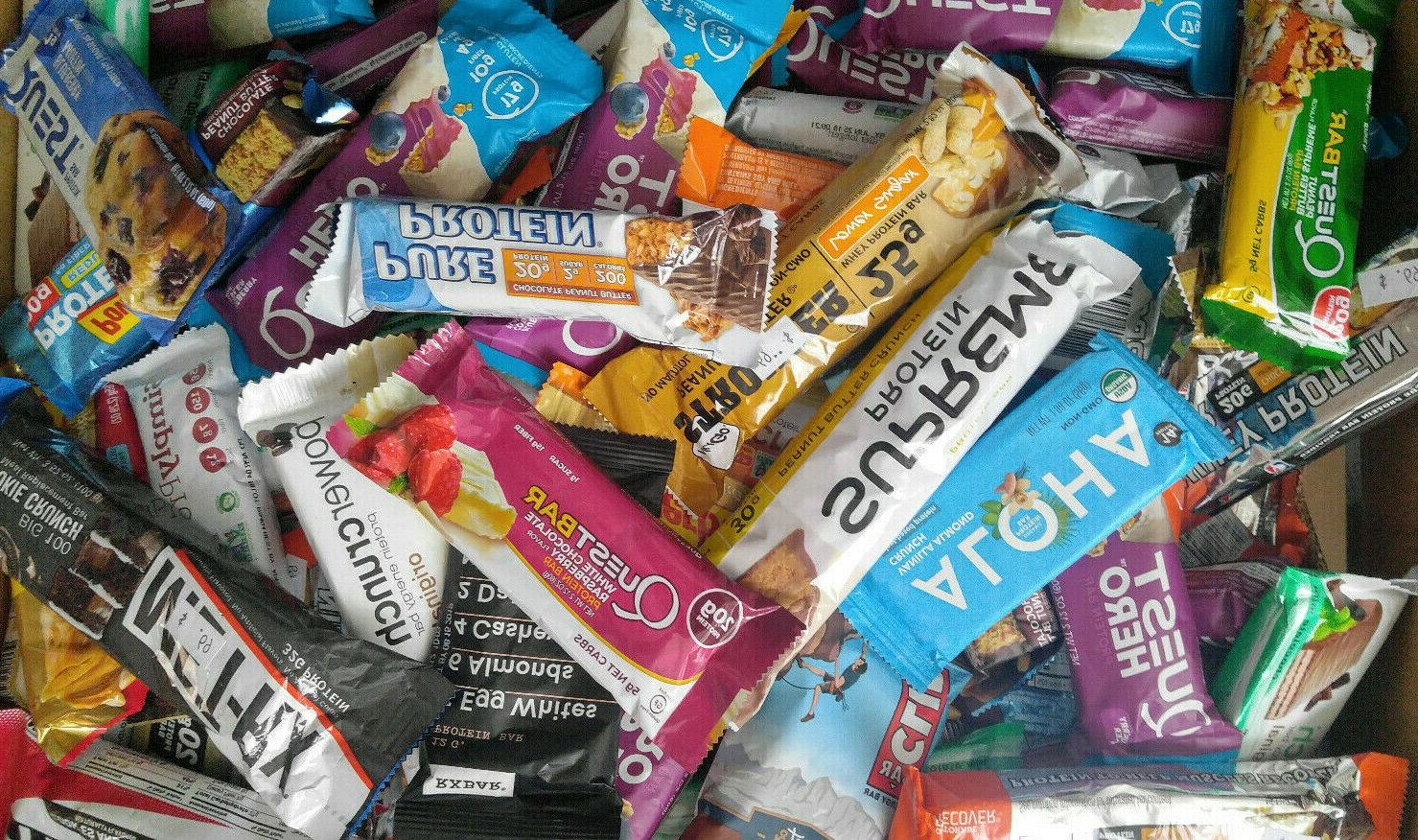 50 assort nutrition energy protein bar clif