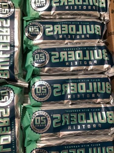 44 CLIF BUILDERS 20g Protein Bars - Chocolate Mint - Exp 09/