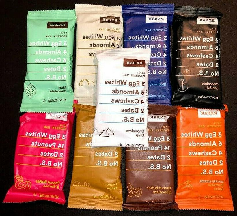 60 assorted flavor rxbar whole food 12g