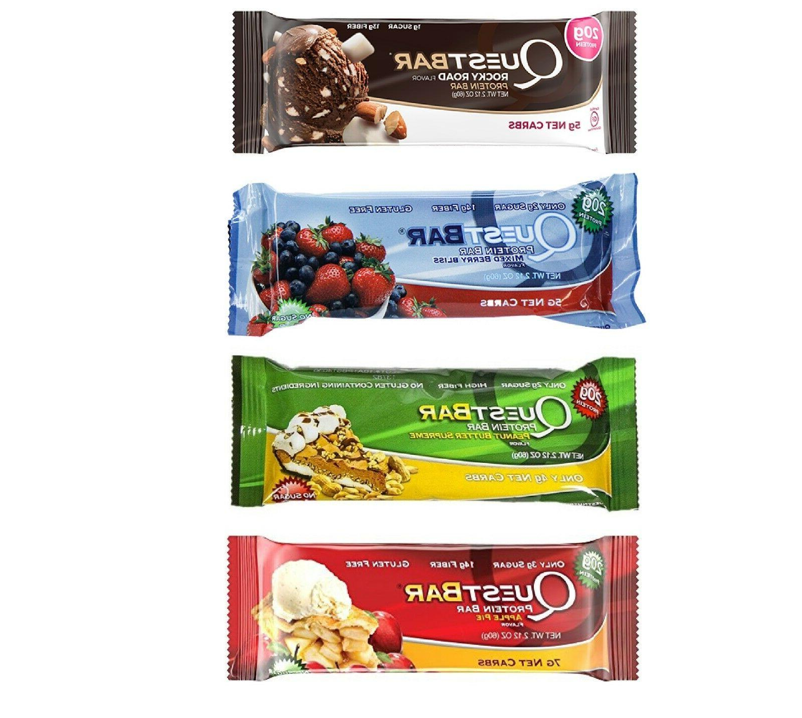 QUEST Protein bars Variety of 4 flavors