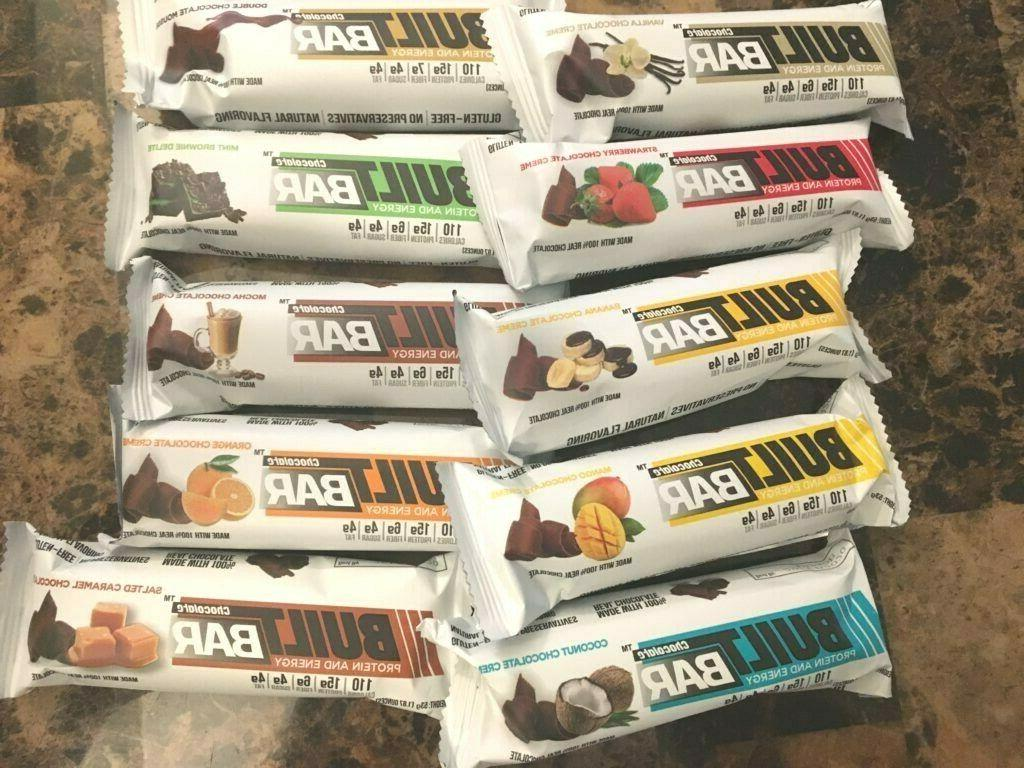 BUILT Energy Bars of 18 CHOOSE YOUR FLAVOR