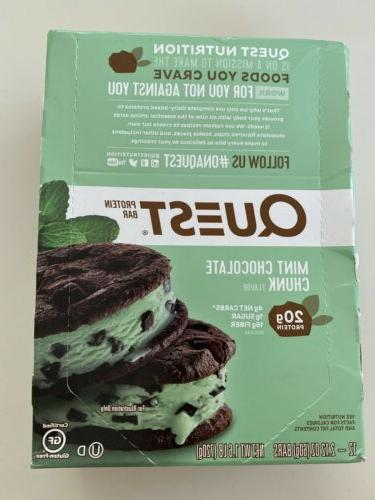 mint chocolate chunk protein bars 12 pack