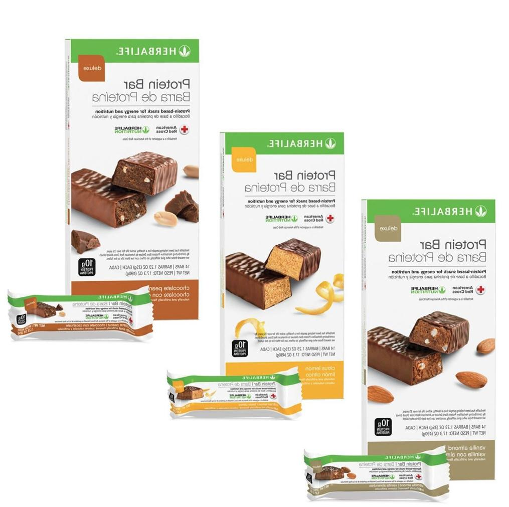 protein bar deluxe all flavors 14 bars