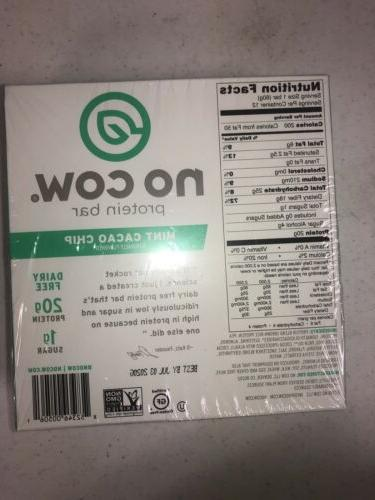 No Cow Keto Protein of 12 Bars MINT CACAO July 3 2020
