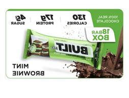 New Built Chocolate Bars Protein Bar Mint Brownie Delite 18