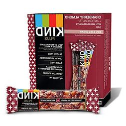 Plus Nutrition Boost Bar, Cranberry Almond and Antioxidants,