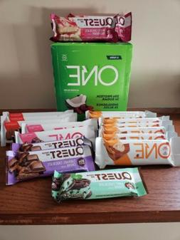 One & Quest Protein Bars -Almond, Peanut Butter Cup, Dark Ch