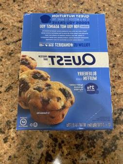 Quest Nutrition Protein Bars Blueberry Muffin Gluten - Box o