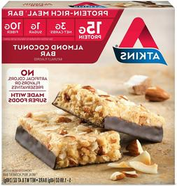 Atkins Protein-Rich Meal Bar Almond Coconut Keto Friendly 5