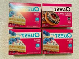 ✔ SEALED 4 Boxes QUEST BARS Birthday Cake & SPINKLED DOUGH