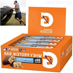 Gatorade Whey Protein Recover Bars, Cookies and Cream, 2.8 o