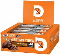 Gatorade Whey Protein Recovery Recover Bars 12 Pack w/ Free
